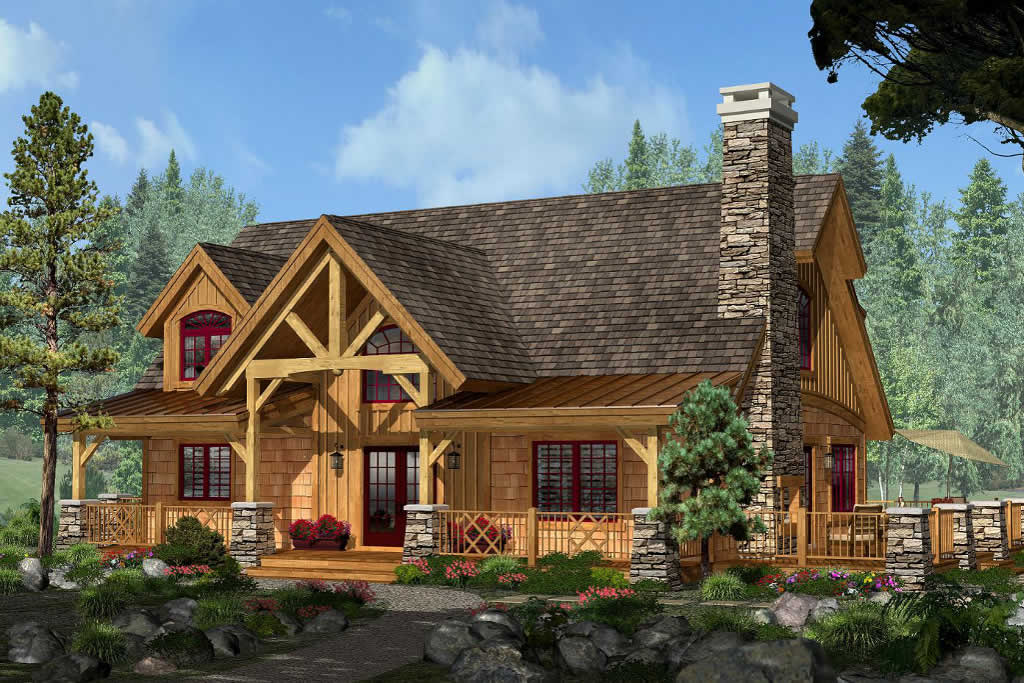 Northwest indiana timber frame homes rosebeam timber frames for Adirondack style homes